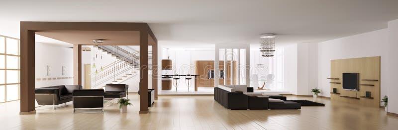 Apartment panorama 3d stock illustration