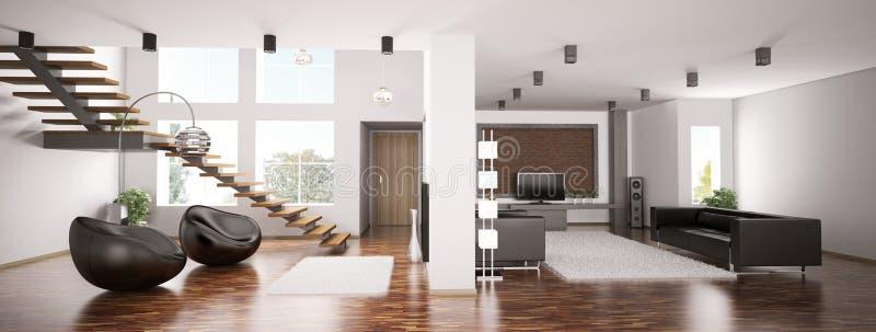 Apartment panorama 3d royalty free illustration