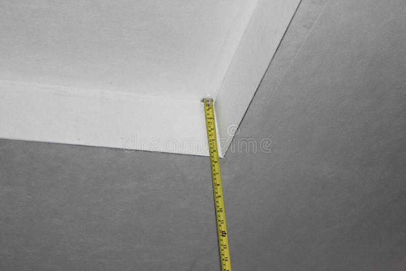 Apartment renovation, plasterboard ceiling,apartment repair royalty free stock photo