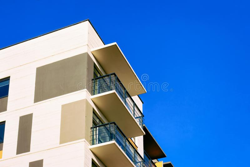 Apartment residential home house building complex real estate copy space. Apartment residential home and house building complex real estate concept. Place for royalty free stock photography