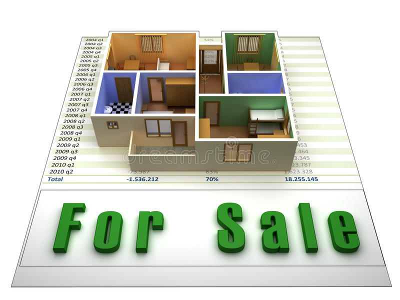 Download Apartment for sale stock illustration. Image of financial - 16147922