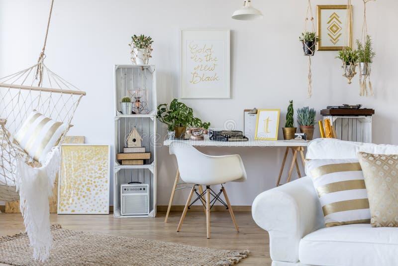 Apartment in scandinavian style stock photo