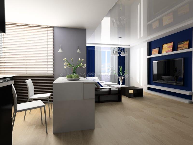 Download Apartment studio stock illustration. Illustration of domestic - 19117398