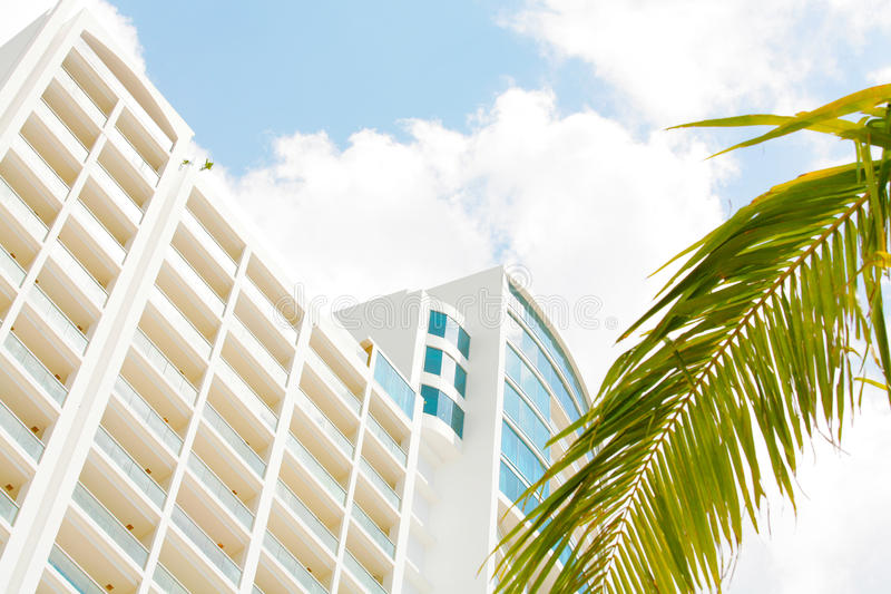 Apartments in beach Playa Bonita Panama. Skyline of luxury high rise apartments in beach Playa Bonita Panama royalty free stock image