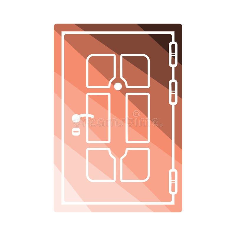 Apartments door icon. Flat color design. Vector illustration stock illustration