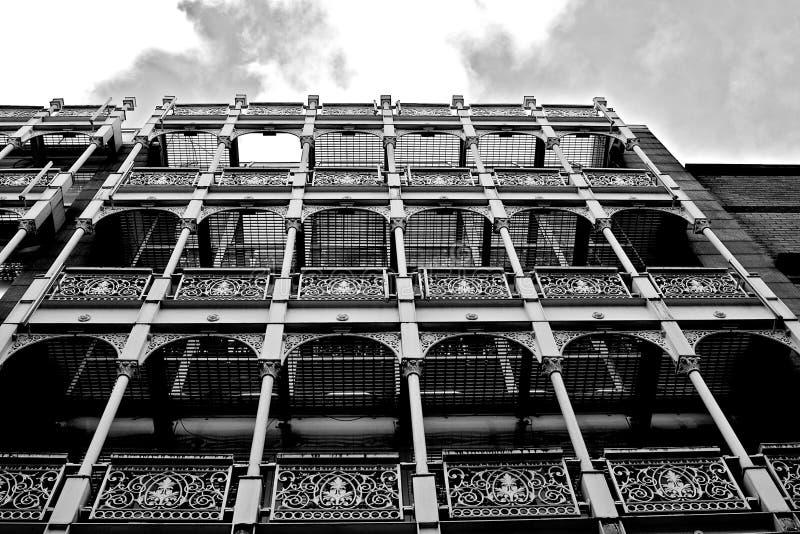 Apartments each with balcony stock photo