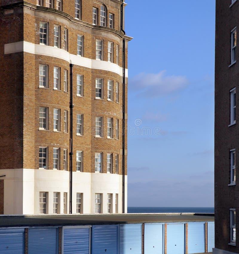 Free Apartments Flats Sea Garage England Royalty Free Stock Photo - 13442705