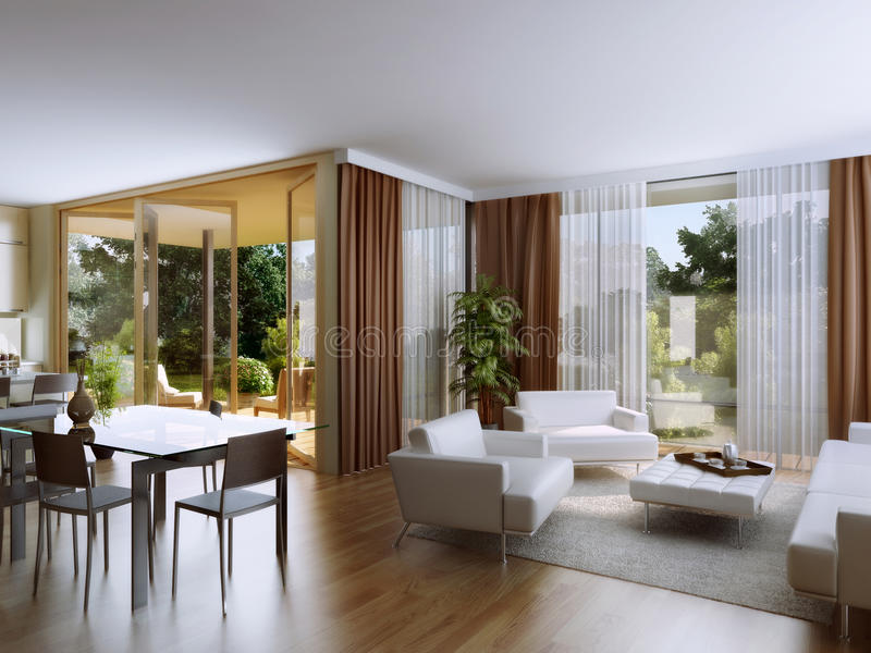 Apartments with garden1. Luxury apartments with access to the rich garden