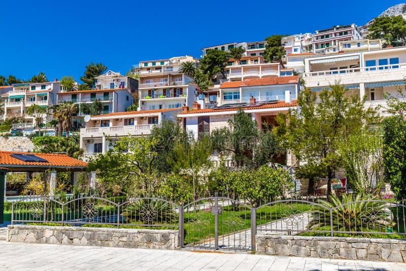 Apartments On Makarska Riviera - Dalmatia, Croatia stock photo
