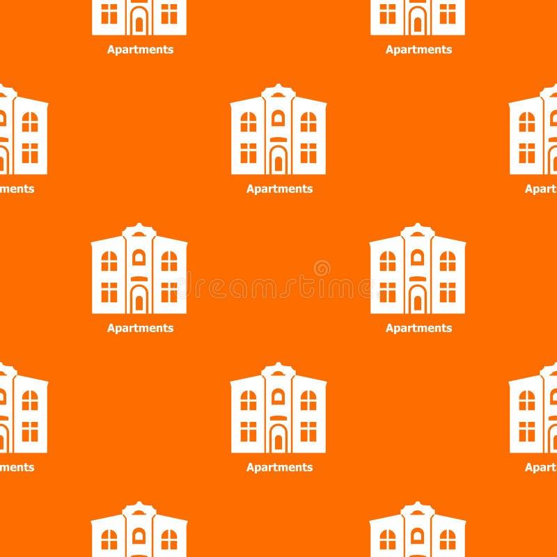 Apartments pattern vector orange. For any web design best stock illustration
