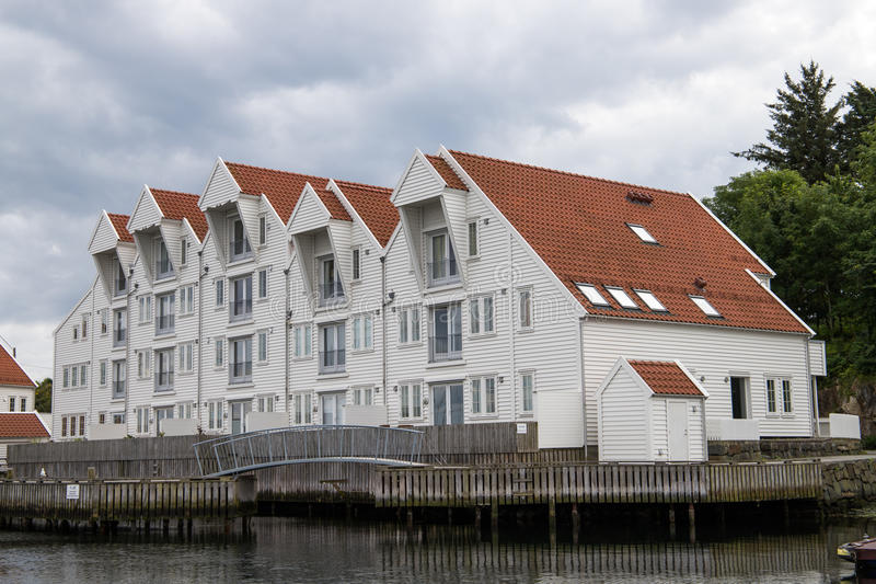 Apartments at the pier royalty free stock images