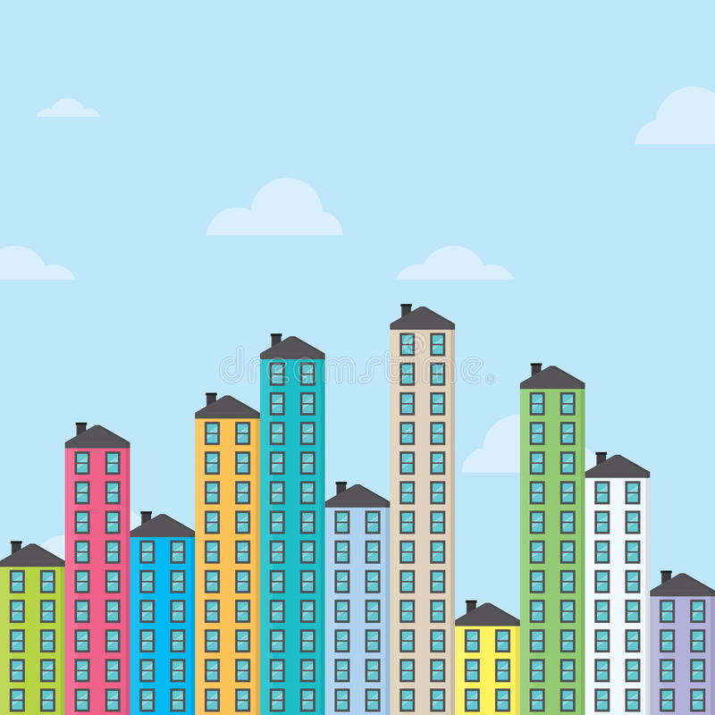 Download Apartments stock vector. Image of estate, business, colorful - 36246705