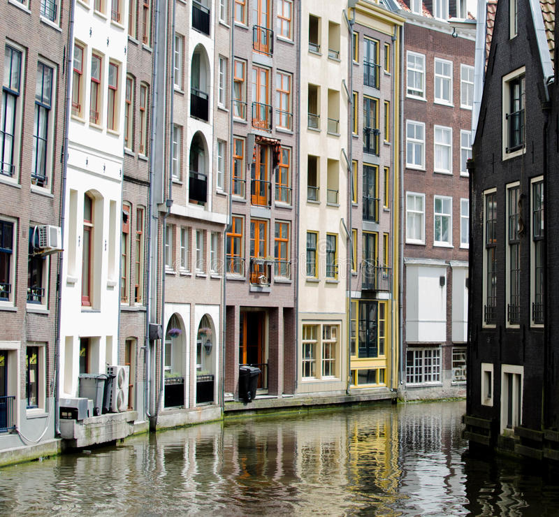 Download Apartments On The Water In Amsterdam Stock Image   Image Of  Yellow, Netherlands: