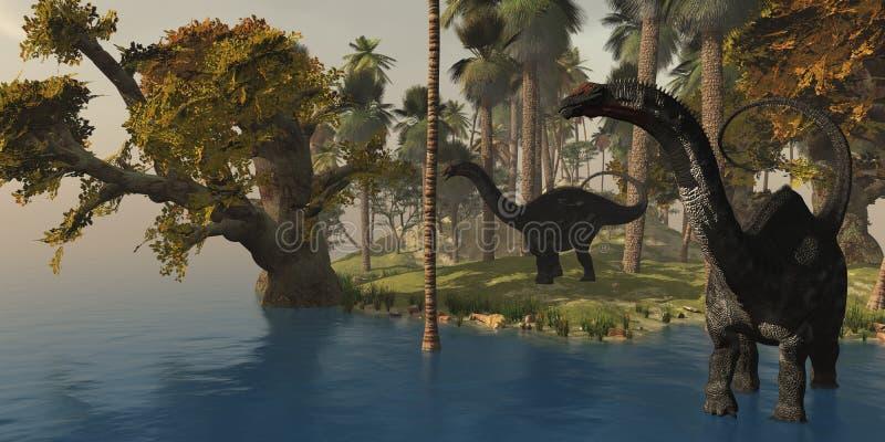 Apatasaurus Island vector illustration