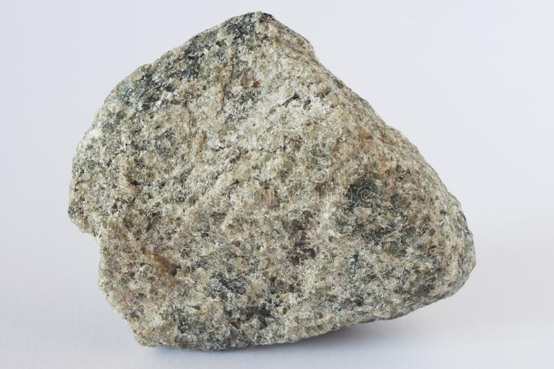 Apatite mineral on white background. Apatite mineral also group of phosphate minerals on white background potentially for economic apatite and fertilizers stock photos