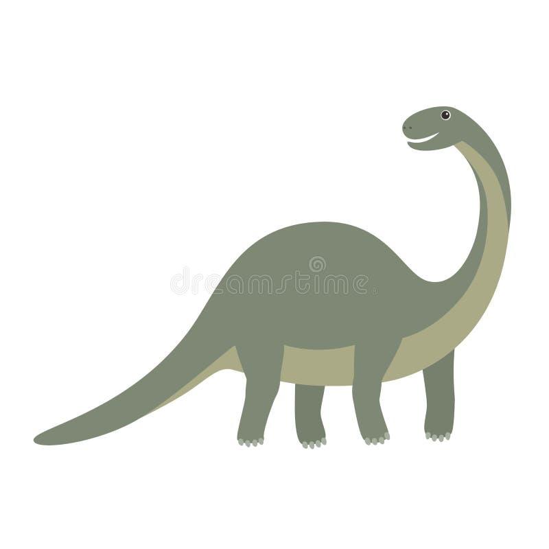 Apatosaurusdinosauriesymbol Tecknad filmillustration av apatosaurusdinosaurien vektor illustrationer