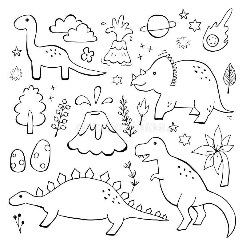 apatosaurustriceraptoren och ilsken tyrannosarierex med