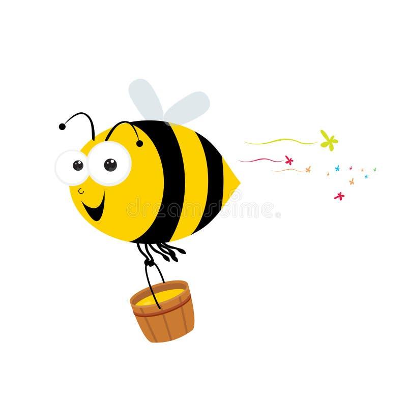 Ape e miele illustrazione di stock