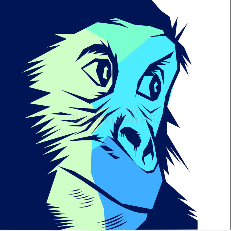 Ape monkey vector royalty free illustration