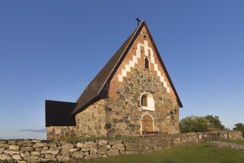 Apedreje a igreja imagens de stock royalty free