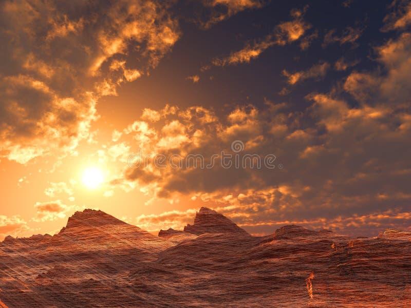 Download Apedreje o deserto ilustração stock. Ilustração de alaranjado - 16862595