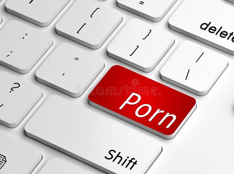 Apego da pornografia ilustração do vetor