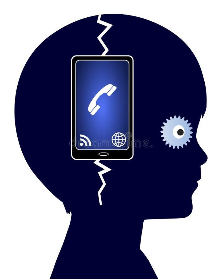 Apego do telefone celular ilustração stock