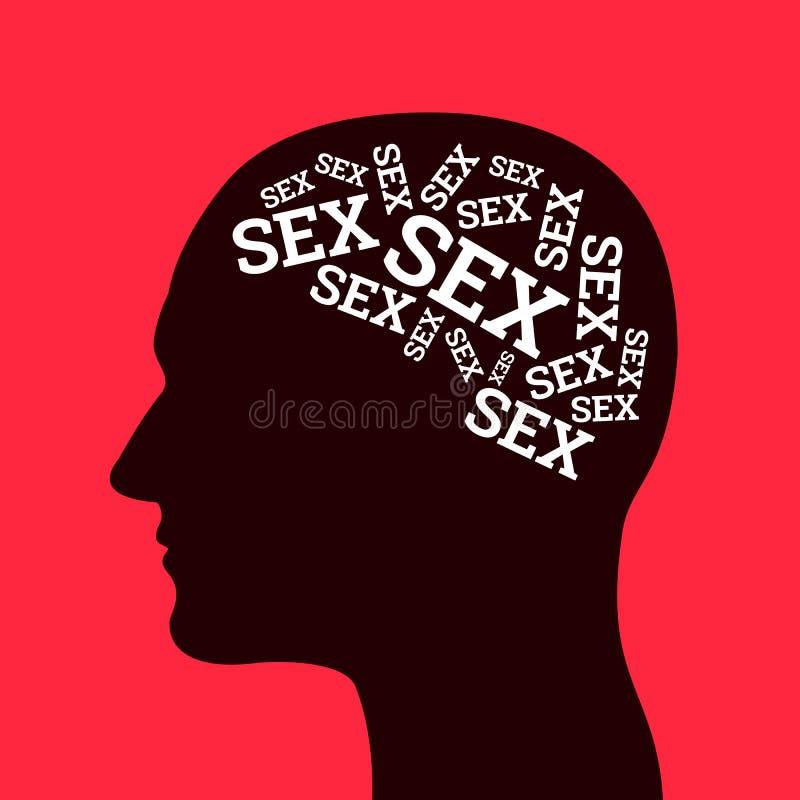 Apego e nymphomany sexuais ilustração stock