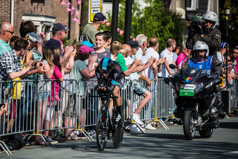 Apeldoorn, Pays-Bas le 6 mai 2016 ; Cycliste professionnel pendant la première phase de la visite de l'Italie 2016 photos libres de droits