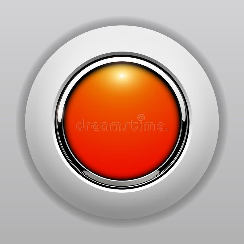 apelsin för knapp 3D royaltyfri illustrationer