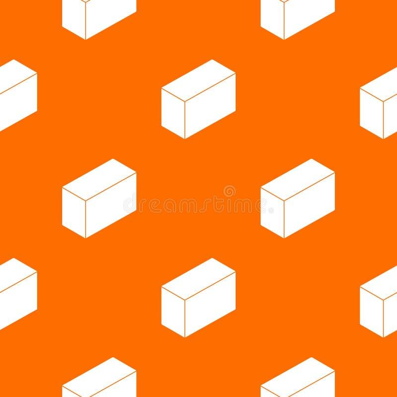 Apelsin för vektor för cementkvartermodell royaltyfri illustrationer