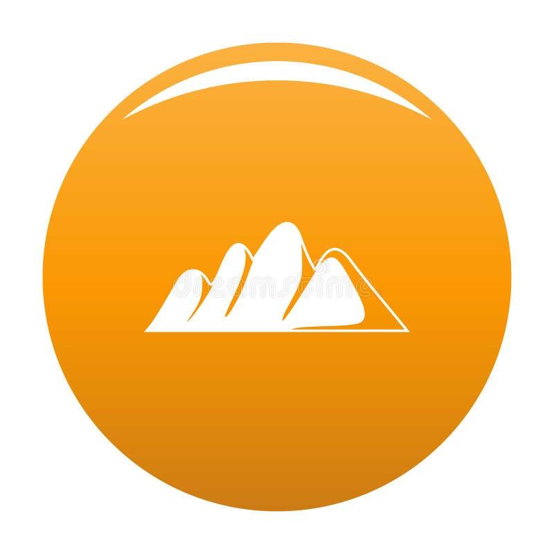 Apelsin för vektor för Europa bergsymbol vektor illustrationer
