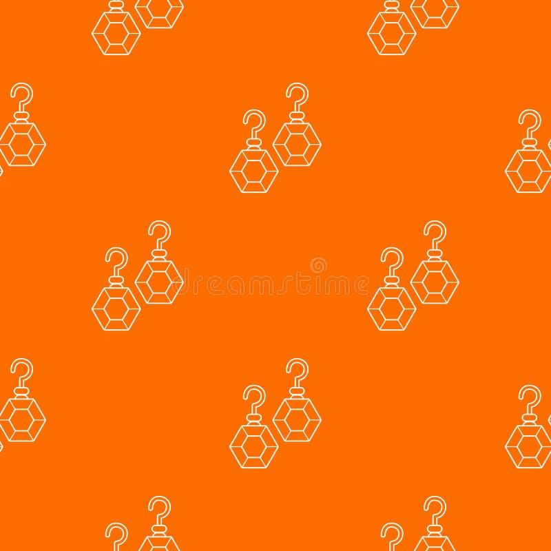 Apelsin för vektor för smaragdörhängemodell vektor illustrationer
