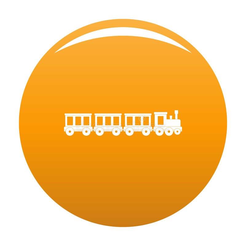 Apelsin för vektor för symbol för passageraredrev royaltyfri illustrationer