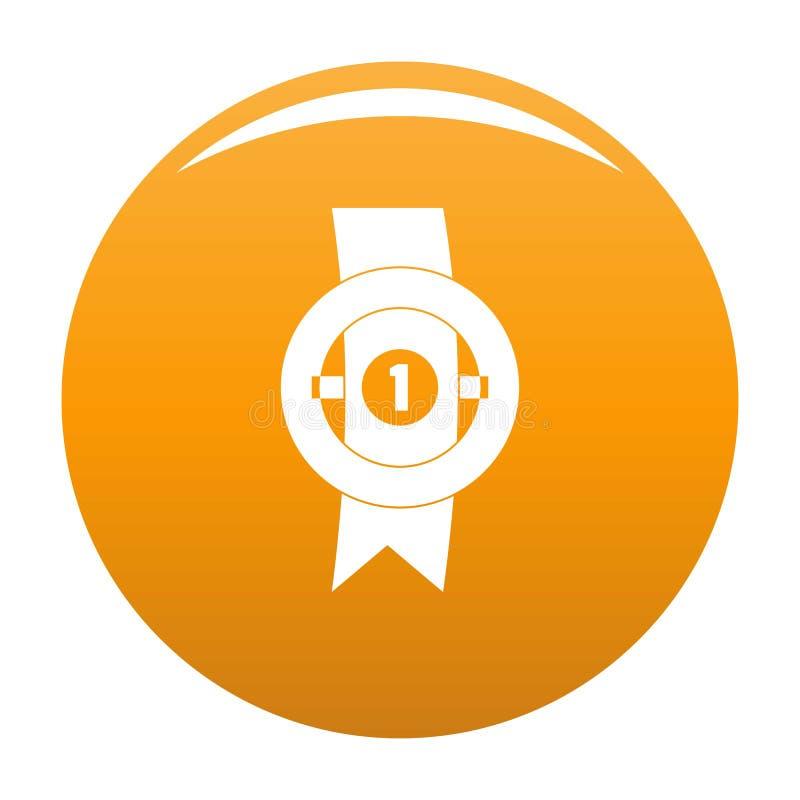 Apelsin för vektor för utmärkelsebandsymbol royaltyfri illustrationer