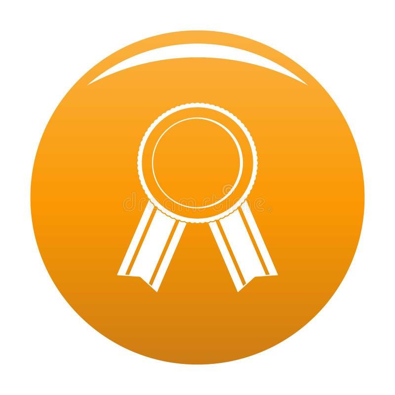 Apelsin för vektor för utmärkelsebandsymbol stock illustrationer