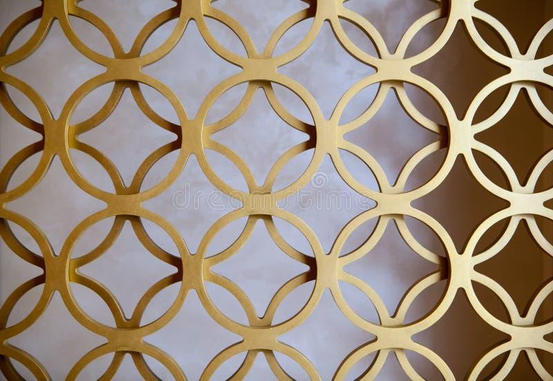 Apelsin målade cirkel perforerade metallpaneler royaltyfri bild