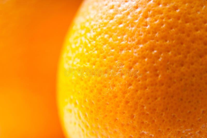Apelsin - makro arkivfoto