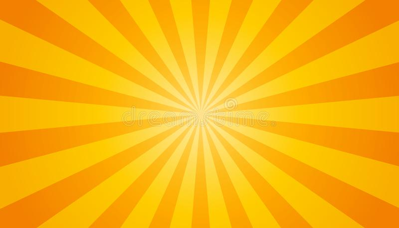 Apelsin- och gulingSunburstbakgrund - vektorillustration vektor illustrationer