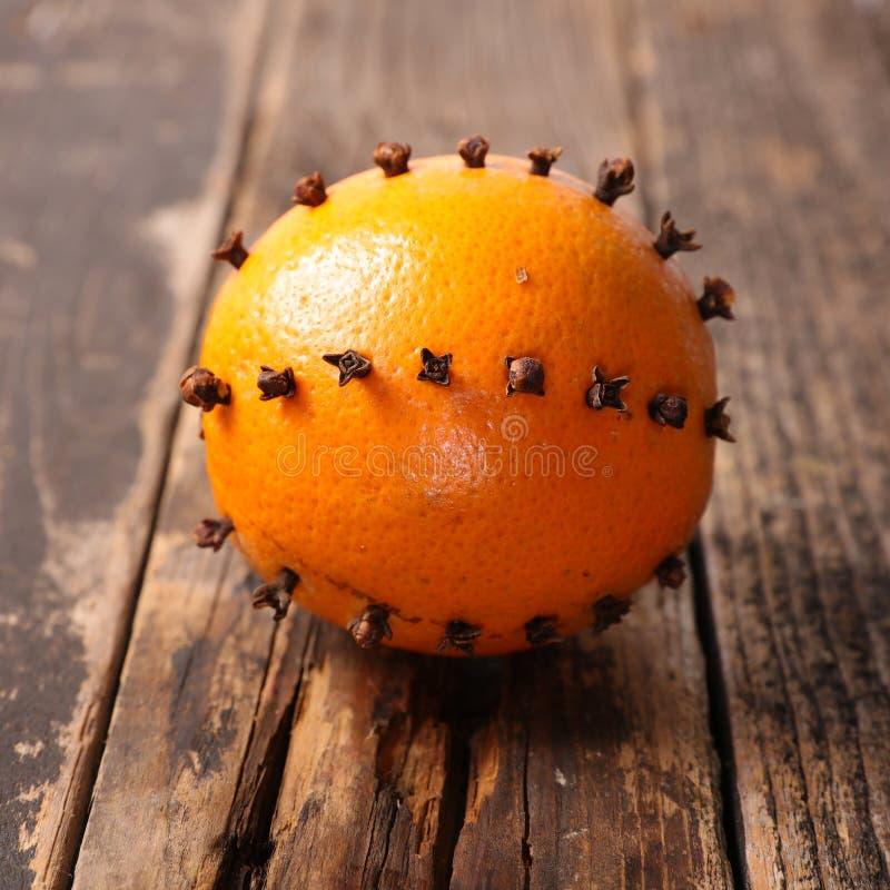 Apelsin och kryddnejlika fotografering för bildbyråer