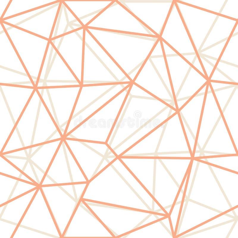 Apelsinen för den abstrakta triangeln för vektorn skisserar den geometriska bakgrund Passande för textil, gåvasjal och tapet stock illustrationer