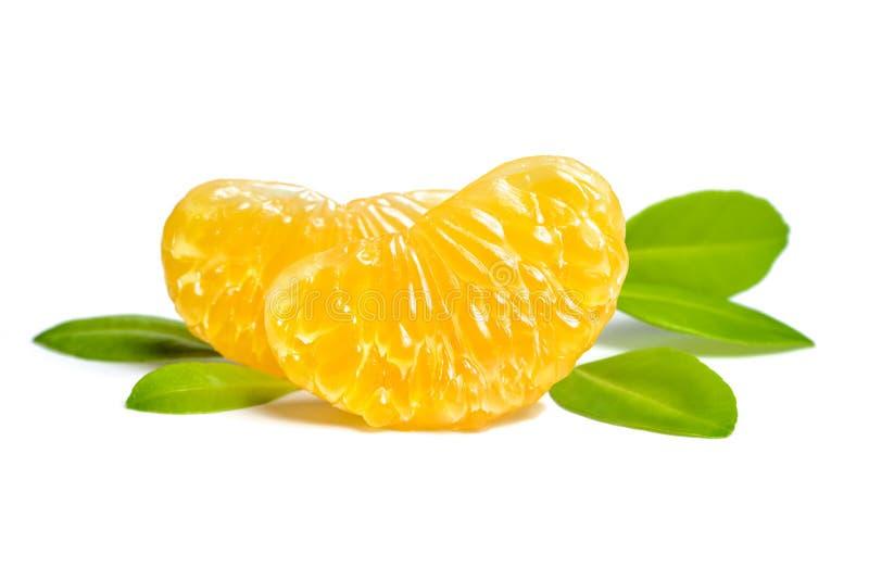 Apelsinen segmenterar royaltyfria bilder