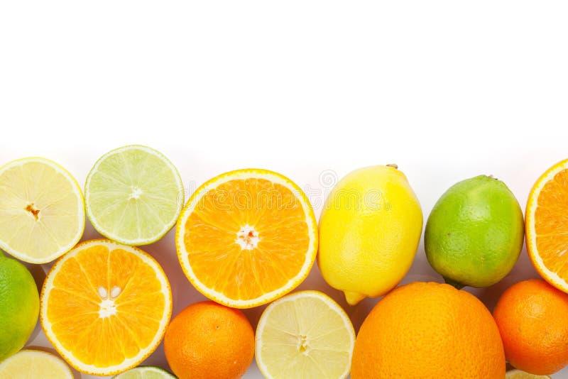 apelsiner för citrusfruktcitronlimefrukter Apelsiner, limefrukter och citroner royaltyfri bild