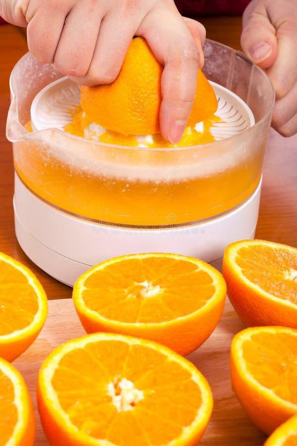 apelsinsammanpressning arkivbilder