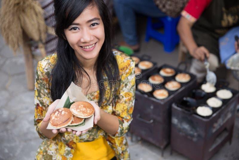 Apem pancake indonesiano immagini stock