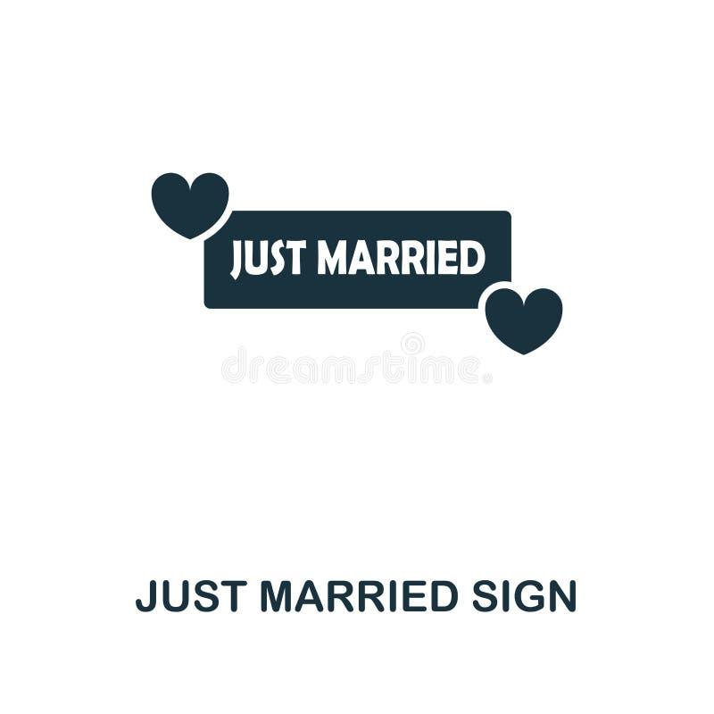 Apenas ícone criativo do sinal casado Ilustração simples do elemento Apenas projeto casado do símbolo do conceito do sinal da col ilustração stock