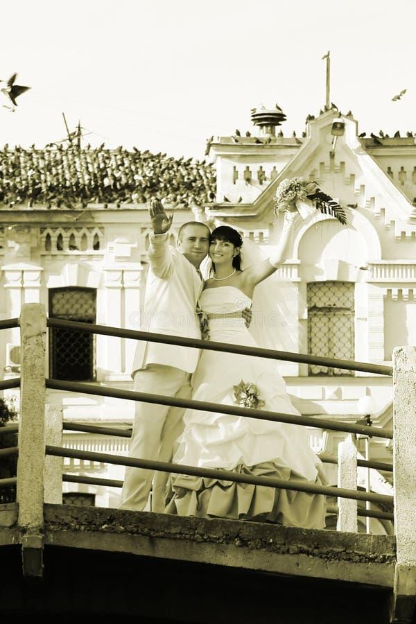 Apenas casado fotografía de archivo libre de regalías
