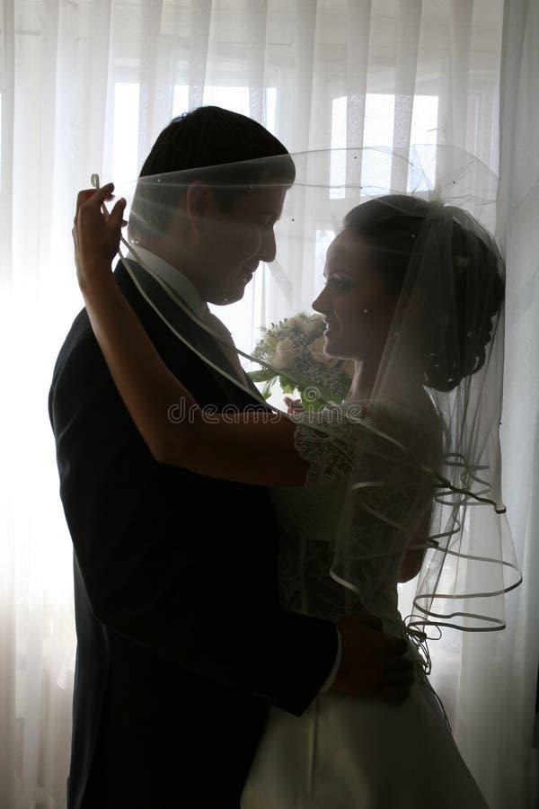 Apenas casado. fotos de stock royalty free