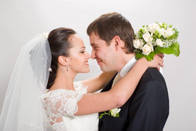 Apenas casado. imagem de stock royalty free