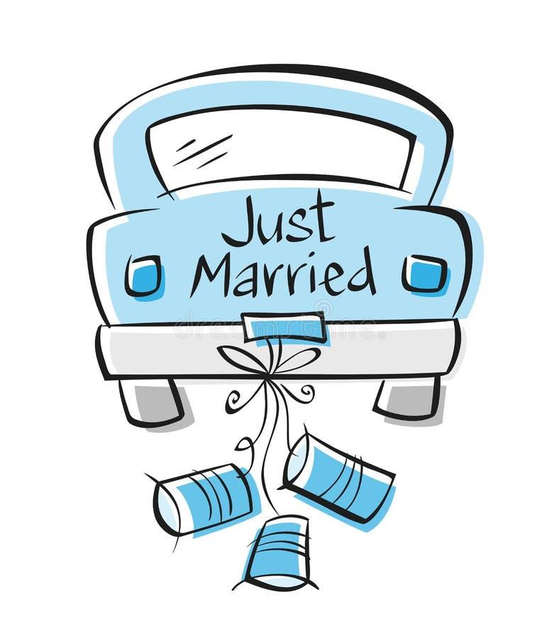 Apenas casado stock de ilustración